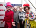 Richard Lynch, Monty, Cllr. John Costelloe, Sinead Hope, UCH and Myles Breen, Dame Lola at the official launch of University Concert Hall panto, Beauty and the Beast at King Johns Castle. The star studded cast of the SPAR Panto, Beauty and the Beast, were out in force today to launch this year's show which runs at University Concert Hall, Limerick from December 19th. Set against the stunning backdrop of King John's Castle in Limerick's Mediaeval Quarter the fairytale cast, in full costume, looked very much at home. Limerick comedian Karl Spain, most recently seen in RTÉ's Celebrity Operation Transformation, joined other newcomers to this year's panto at University Concert Hall -Aoibhin Garrihy and Tom O'Mahony - together with the host of long serving familiar faces which already include RTÉ's George McMahon, Richie Hayes and Leanne Moore. Picture: Sean Curtin True Media.
