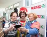 Sinead Hope, UCH, Myles Breen, Dame Lola and Linda Stevens at the official launch of University Concert Hall panto, Beauty and the Beast at King Johns Castle. The star studded cast of the SPAR Panto, Beauty and the Beast, were out in force today to launch this year's show which runs at University Concert Hall, Limerick from December 19th. Set against the stunning backdrop of King John's Castle in Limerick's Mediaeval Quarter the fairytale cast, in full costume, looked very much at home. Limerick comedian Karl Spain, most recently seen in RTÉ's Celebrity Operation Transformation, joined other newcomers to this year's panto at University Concert Hall -Aoibhin Garrihy and Tom O'Mahony - together with the host of long serving familiar faces which already include RTÉ's George McMahon, Richie Hayes and Leanne Moore. Picture: Sean Curtin True Media.