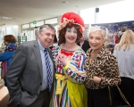 Fergal Deegan, Limericks Live 95FM, Myles Breen, Dame Lola and Sinead Clohessy, Specsavers at the official launch of University Concert Hall panto, Beauty and the Beast at King Johns Castle. The star studded cast of the SPAR Panto, Beauty and the Beast, were out in force today to launch this year's show which runs at University Concert Hall, Limerick from December 19th. Set against the stunning backdrop of King John's Castle in Limerick's Mediaeval Quarter the fairytale cast, in full costume, looked very much at home. Limerick comedian Karl Spain, most recently seen in RTÉ's Celebrity Operation Transformation, joined other newcomers to this year's panto at University Concert Hall -Aoibhin Garrihy and Tom O'Mahony - together with the host of long serving familiar faces which already include RTÉ's George McMahon, Richie Hayes and Leanne Moore. Picture: Sean Curtin True Media.
