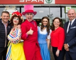 Mike Gleeson, Gleeson's Spar, Myles Breen, Lola, Richard Lynch, Gascraic, Leanne Moore, Belle, Sinead Hope, UCH and Barry Doyle, Regional Manager, BWG at UCH Panto Beauty And The Beast. Picture Sean Curtin True Media.